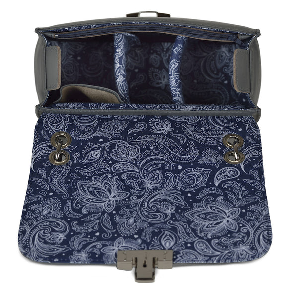 Women's Gray Leather Camera Bag - Lima by POMPIDOO on Jetset Times SHOP