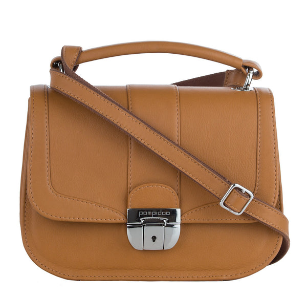 Women's Brown Leather Camera Bag - Lima