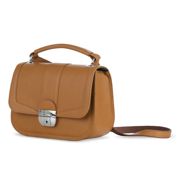 Women's Brown Leather Camera Bag - Lima by POMPIDOO on Jetset Times SHOP