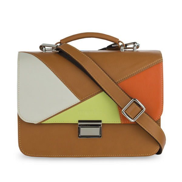 Women's Brown Leather Camera Bag - Miami
