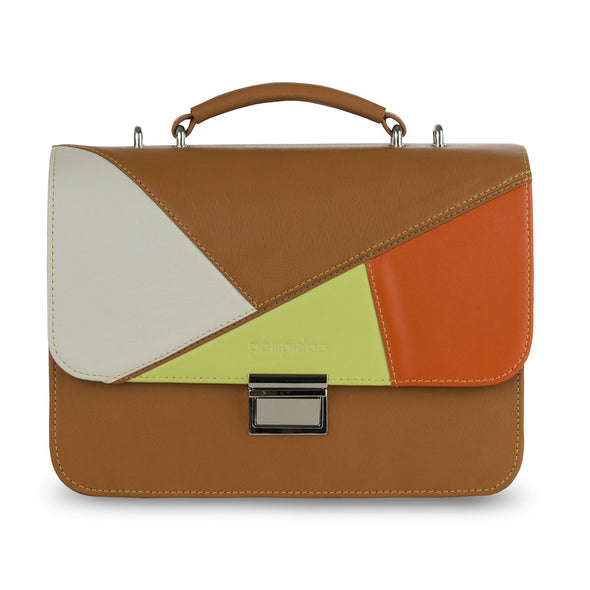 Women's Brown Leather Camera Bag - Miami by POMPIDOO on Jetset Times SHOP