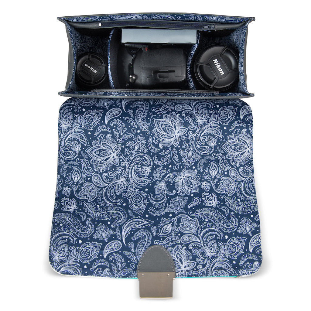 Women's Gray Leather Camera Bag - Miami by POMPIDOO on Jetset Times SHOP