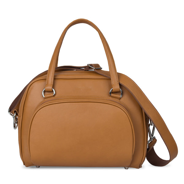Women's Brown Leather Camera Bag - Palermo