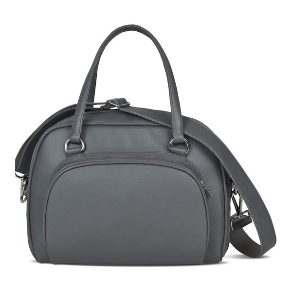 Women's Gray Leather Camera Bag - Palermo