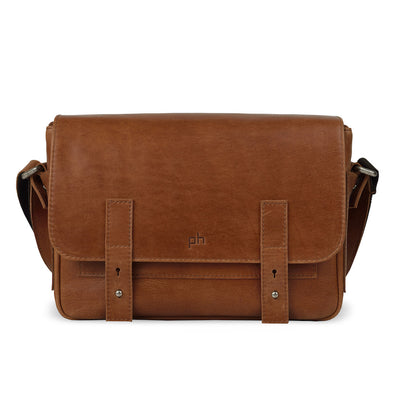 Brown Leather Camera Bag - Tokyo for Men and Women by POMPIDOO on Jetset Times SHOP