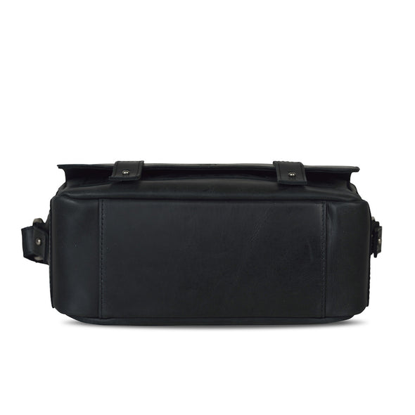 Black Leather Camera Bag - Tokyo for Men and Women by POMPIDOO on Jetset Times SHOP