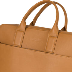 Brown Leather Laptop Bag - Sydney for Men and Women by POMPIDOO on Jetset Times SHOP