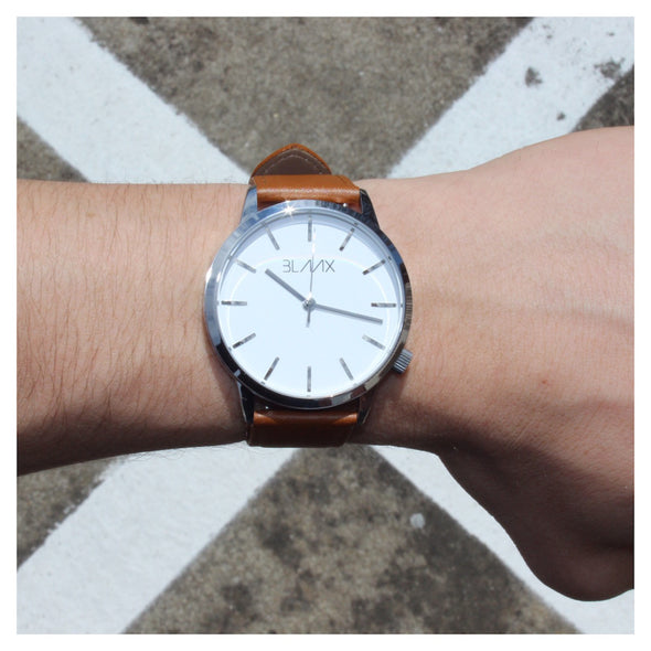 Tan Leather Watch for Men and Women - Miami Tan by BLAAX on Jetset Times SHOP