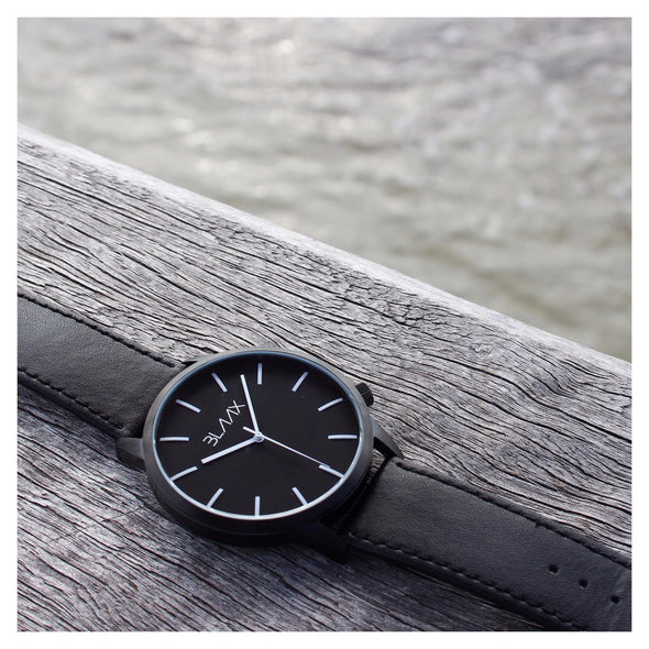 Black Minimalist Watch for Men and Women - New York by BLAAX on Jetset Times SHOP