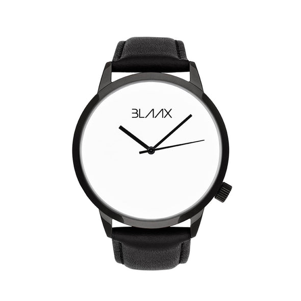 Black Leather Watch for Men and Women - Eclipse by BLAAX on Jetset Times SHOP
