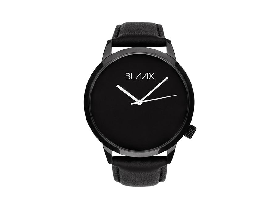 Black Leather Watch for Men and Women - Shadow Black by BLAAX on Jetset Times SHOP