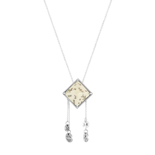 Women's Sami Pyramid & Coins Pendant Necklace - Silver by No 13 on Jetset Times SHOP