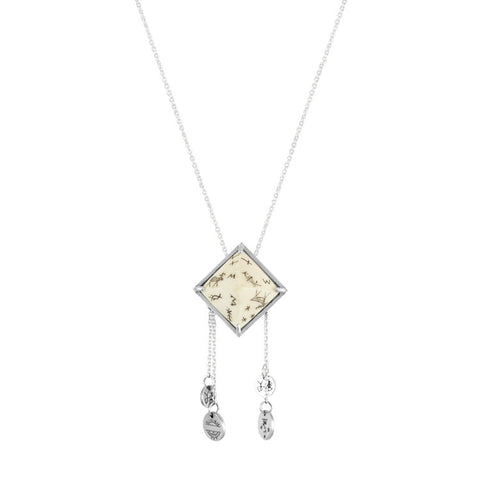 Women's Sami Pyramid & Coins Pendant Necklace - Silver