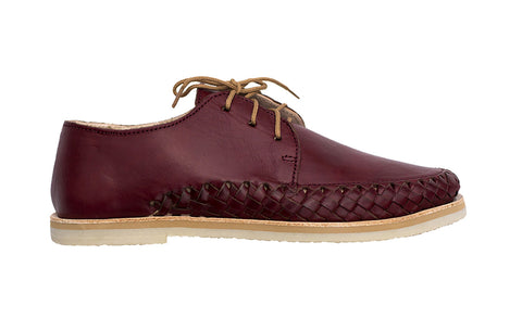 Bordeaux Casual Leather Shoes for Men and Women - Sayulita