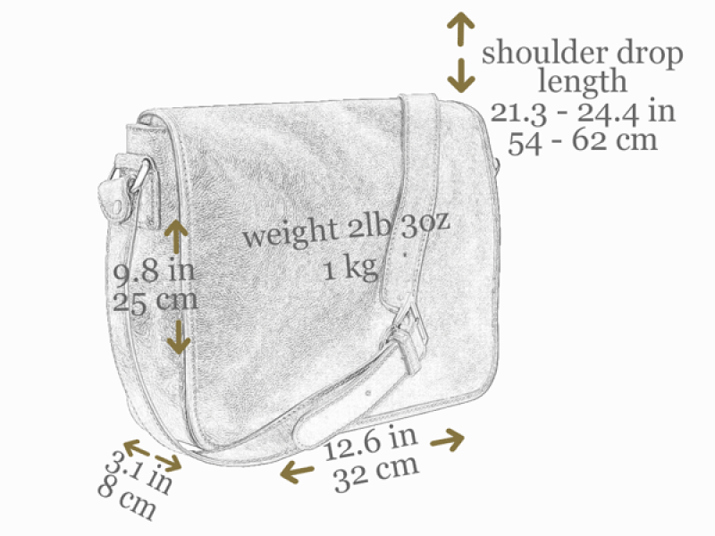 Leather Messenger Bag - The Stranger for Men and Women by Time Resistance on Jetset Times SHOP
