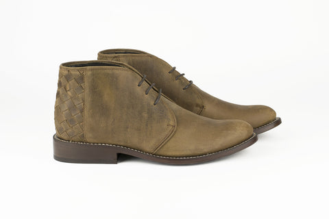 Men's Brown Leather Ankle Boots - TAPALPA