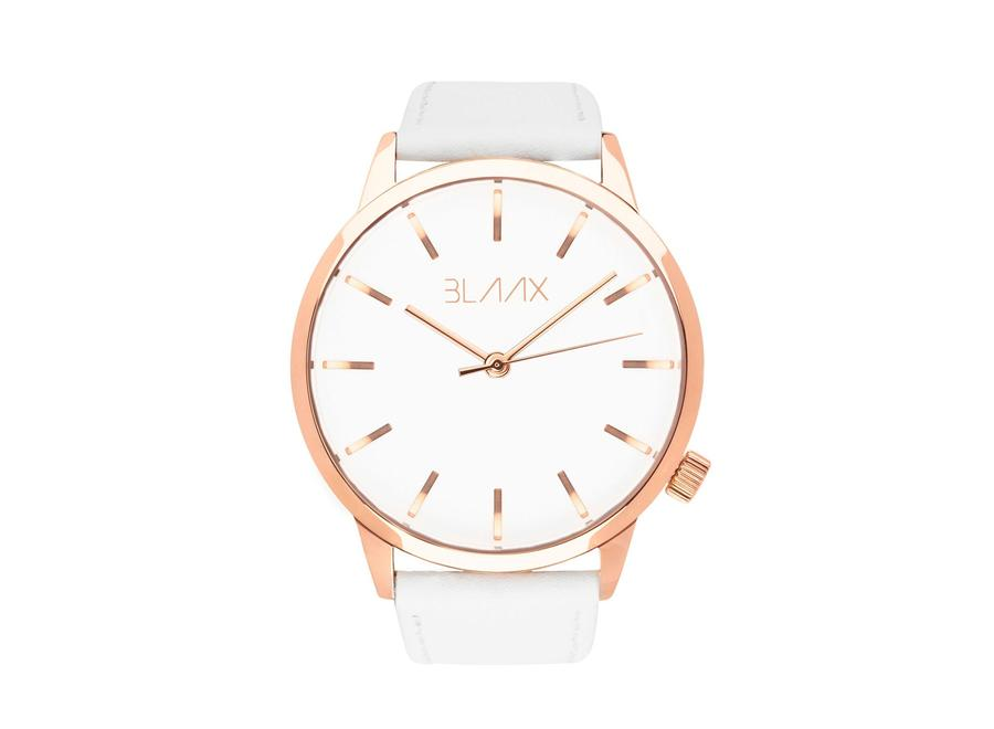 Women's White Leather Watch - White Rose by BLAAX on Jetset Times SHOP