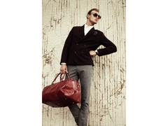 Red Leather Duffel Bag - Wise Children Men and Women by Time Resistance on Jetset Times SHOP