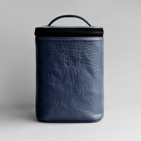 Men's Leather Dopp Kit - Yard in Blue
