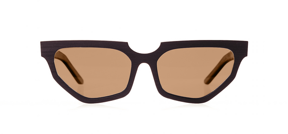 Wood Sunglasses for Men and Women - Black Hornbeam with Brown Lenses by BREVNO on Jetset Times SHOP