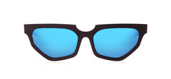Wood Sunglasses for Men and Women - Black Hornbeam with Sky Blue Lenses by BREVNO on Jetset Times SHOP