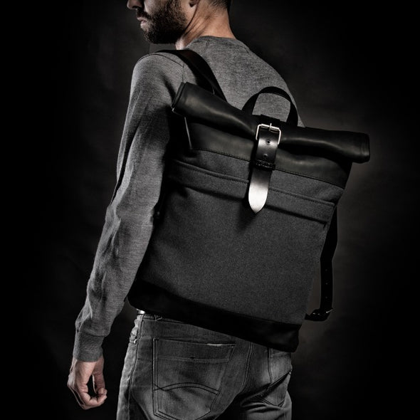 Wool Felt Grey Backpack