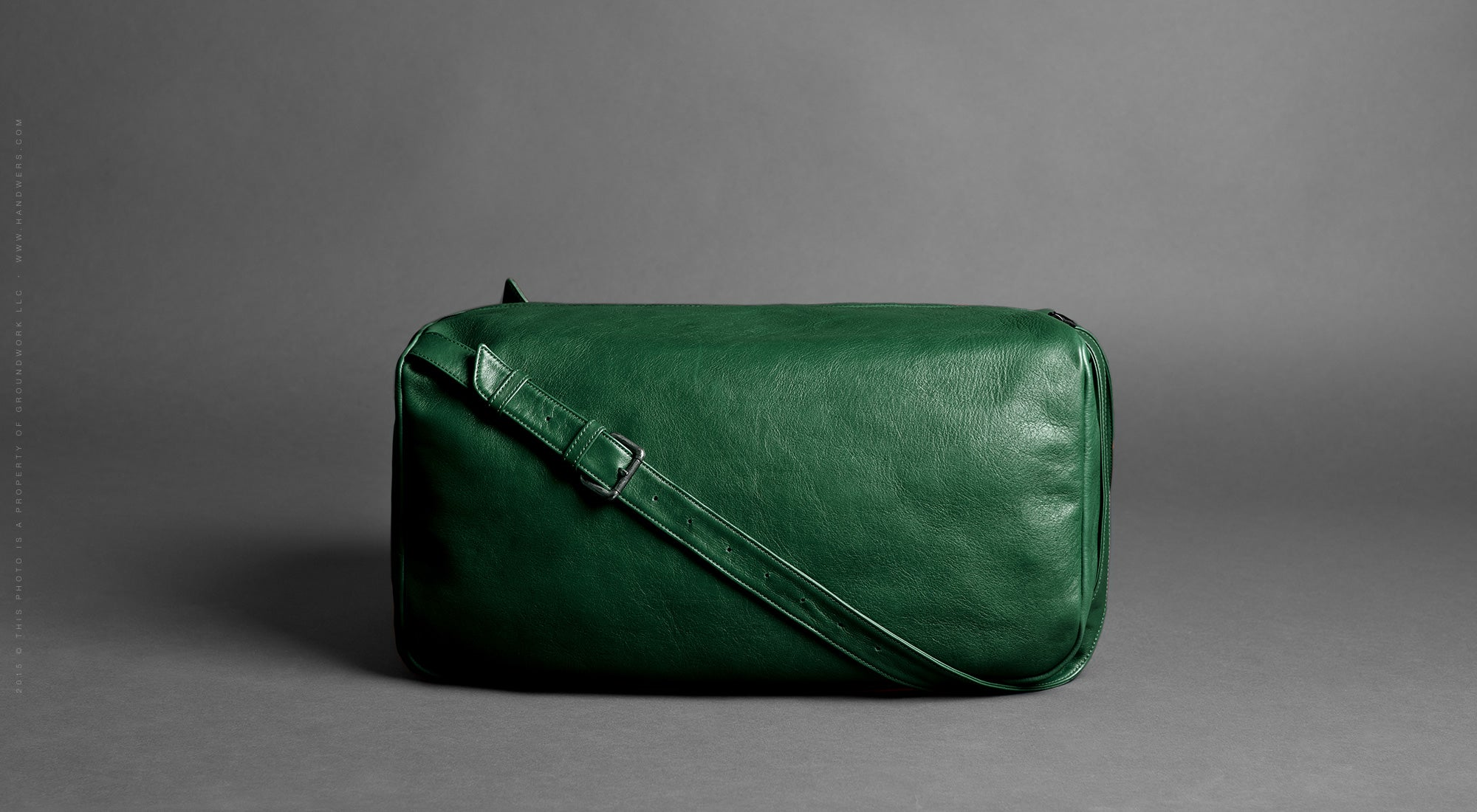 Leather Travel Duffel Bag - Pilgrim in Green by HANDWERS on Jetset Times SHOP