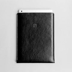 Leather iPad Mini/iPad Air/iPad Pro Sleeve - Hike in Black by HANDWERS on Jetset Times SHOP