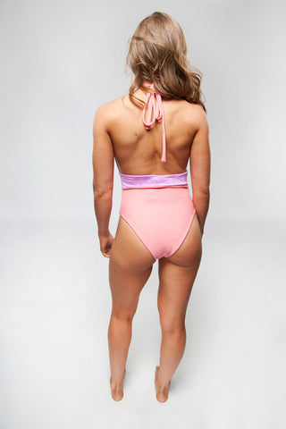 Natalie One Piece - Coral/Lilac
