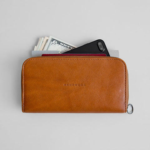 Leather Passport Travel Wallet - Lassen in Brown