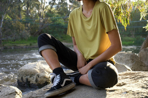 Yellow T-Shirt for Men and Women - Tidal