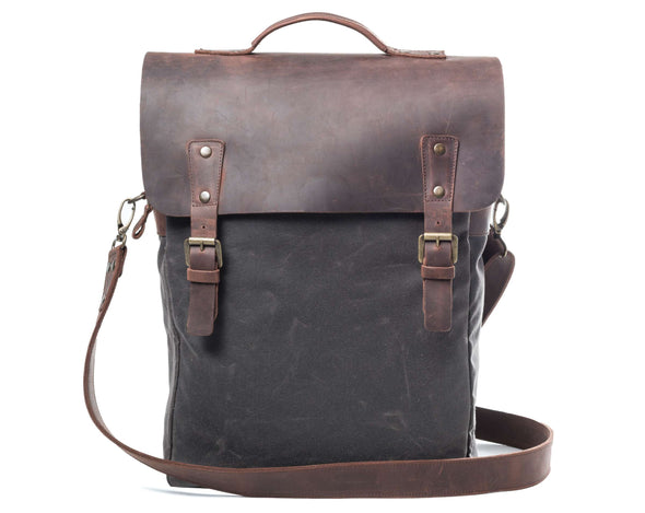 Leather Flap Backpack Chocolate