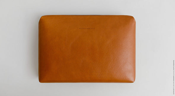 Leather Laptop Folio Case - Garda in Brown by HANDWERS on Jetset Times SHOP