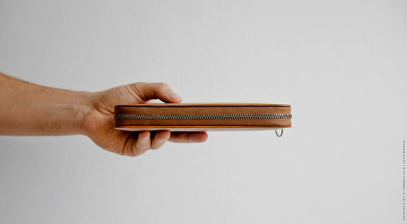 Leather Passport Travel Wallet - Lassen in Brown by HANDWERS on Jetset Times SHOP