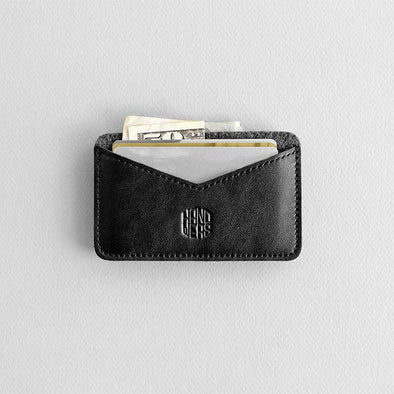Leather Cardholder Wallet - Chaste in Black by HANDWERS on Jetset Times SHOP