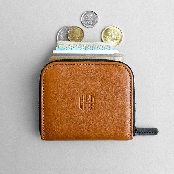 Leather Travel Zipper Wallet - Cliff in Brown