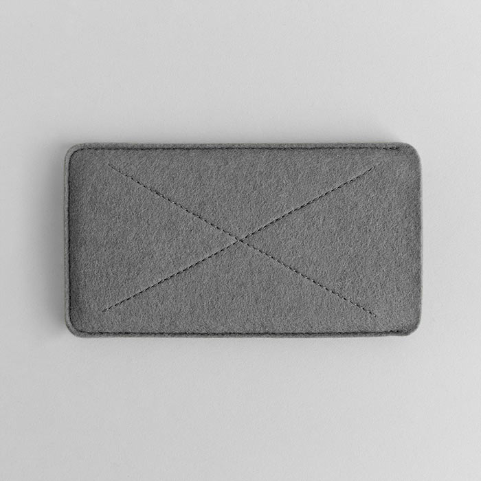 Gray Wool Felt iPhone/iPhone Plus Sleeve - Cross by HANDWERS on Jetset Times SHOP