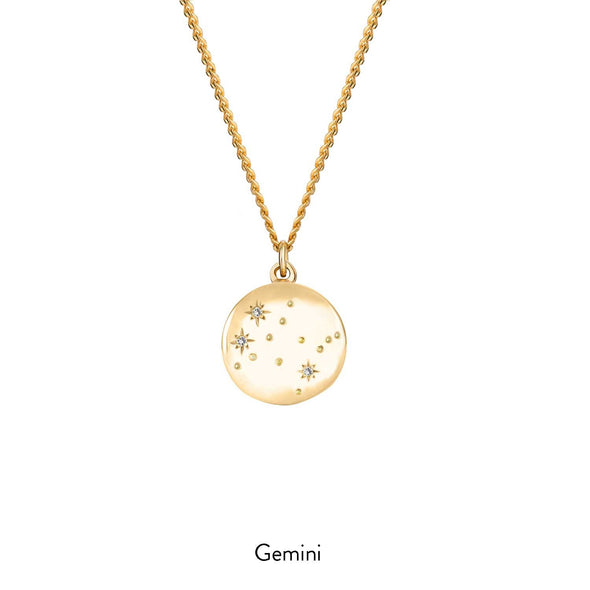 Gold Constellation Necklace - With Diamonds