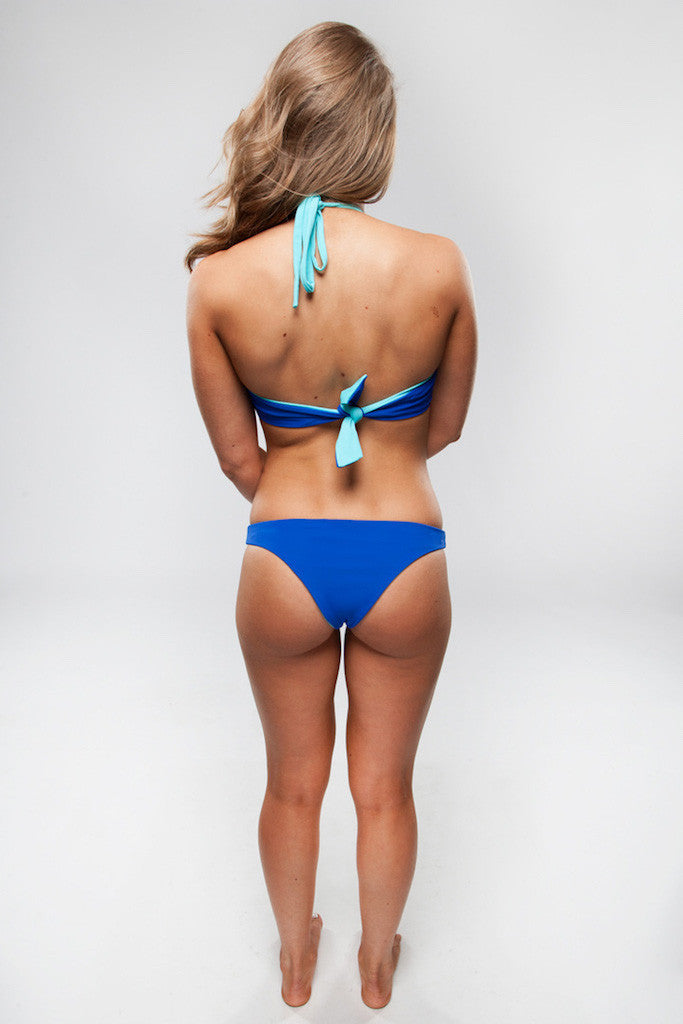 Women's High Neck Reversible Top - Emily in Royal/Aqua by Lagoa Swimwear on Jetset Times SHOP