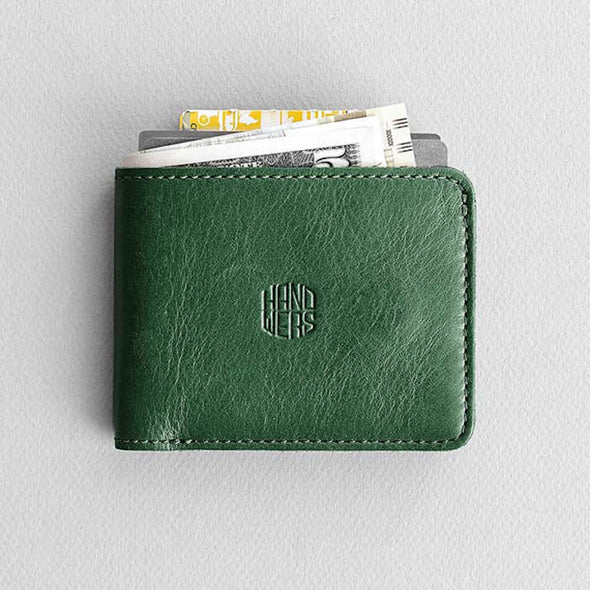 Men's Leather Bifold Wallet - Ambit in Green