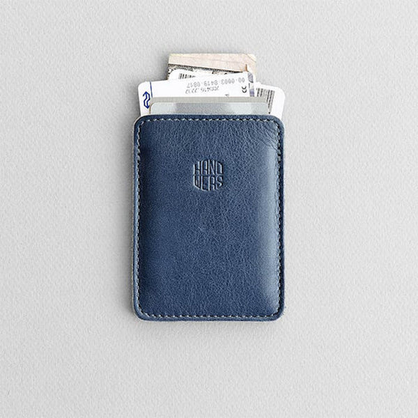 Men's Slim Leather Cardholder - GROVE in Blue