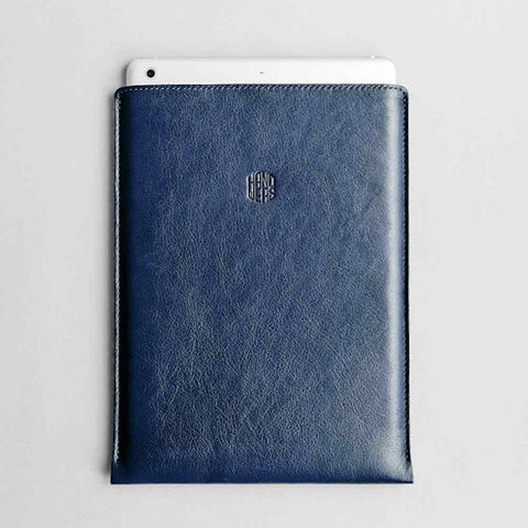 Leather iPad Mini/iPad Air/iPad Pro Sleeve - Hike in Blue