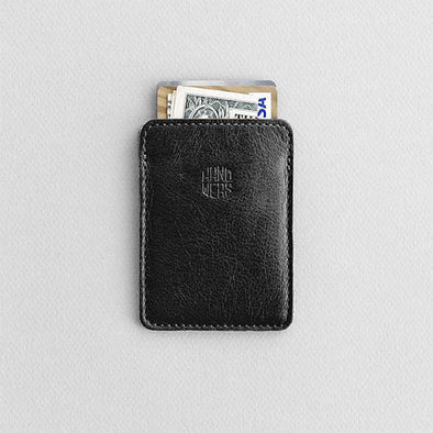 Men's Slim Leather Cardholder - Grove in Black by HANDWERS on Jetset Times SHOP