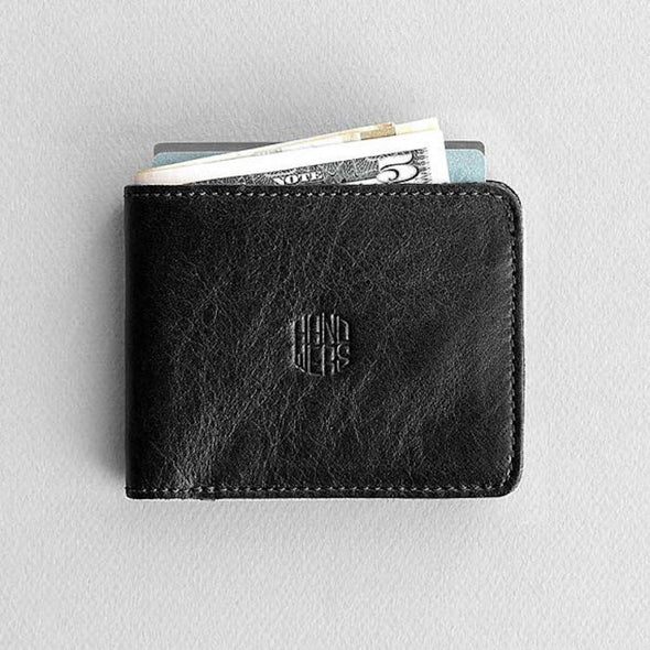 Men's Leather Bifold Wallet - Ambit in Black by HANDWERS on Jetset Times SHOP