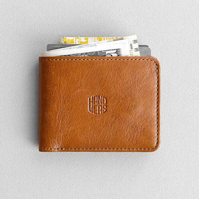 Men's Leather Bifold Wallet - Ambit in Brown by HANDWERS on Jetset Times SHOP