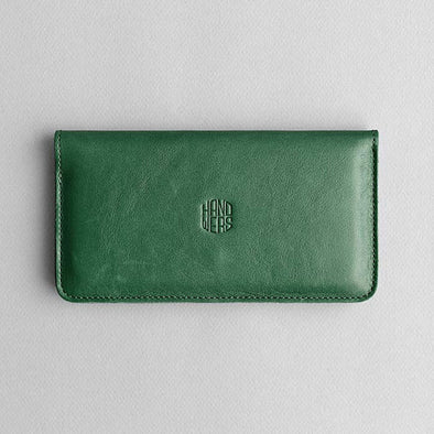 Leather iPhone/iPhone Plus Wallet - Ranch in Green by HANDWERS on Jetset Times SHOP