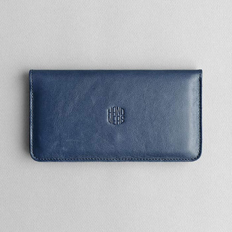 Leather iPhone Wallet - Ranch in Blue