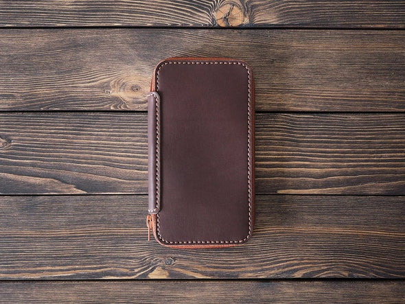 iPhone XS Max Leather Wallet - Various Colors