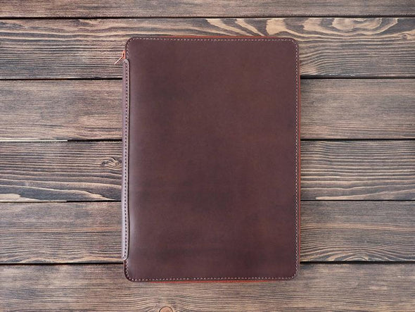 iPad Pro Leather Zip Folio - Various Colors and Sizes