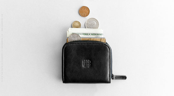 Leather Travel Zipper Wallet - Cliff in Black by HANDWERS on Jetset Times SHOP